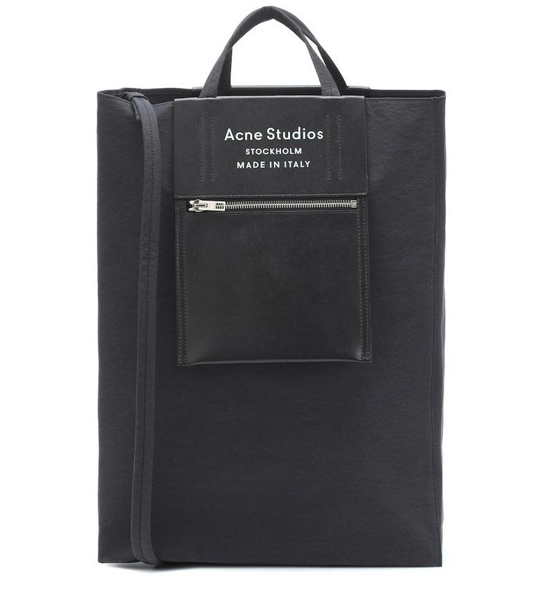 Acne Studios Baker canvas tote bag in black