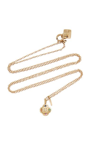 SCOSHA Endless Knot 10K Gold And Multi-Stone Necklace