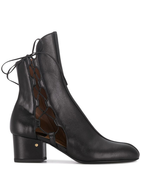 Laurence Dacade cut-out detail ankle boots in black