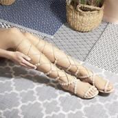 shoes,pearl gladiator sandals lace up  flats