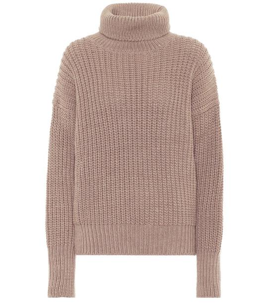 Joseph Roll-neck wool-blend sweater in brown