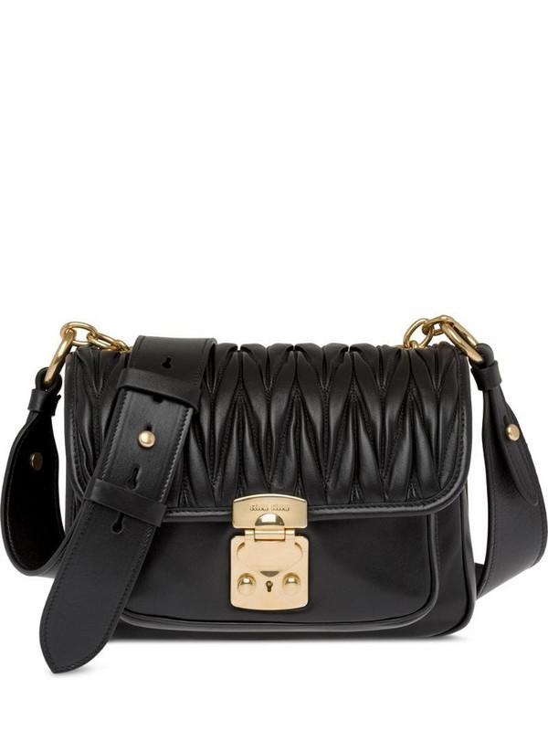 Miu Miu matelassé shoulder bag in black