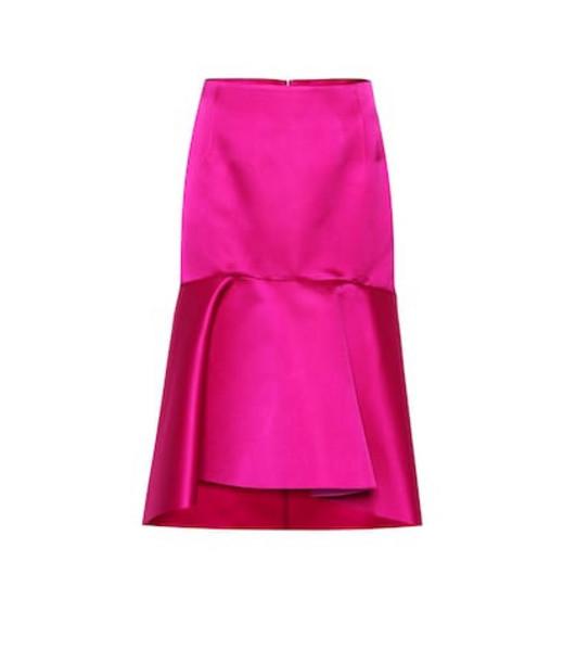 Balenciaga Silk satin skirt in pink