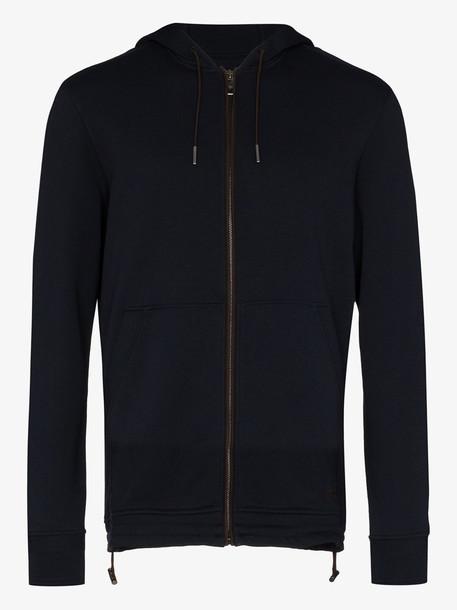 Ermenegildo Zegna zip-up cotton fleece hoodie