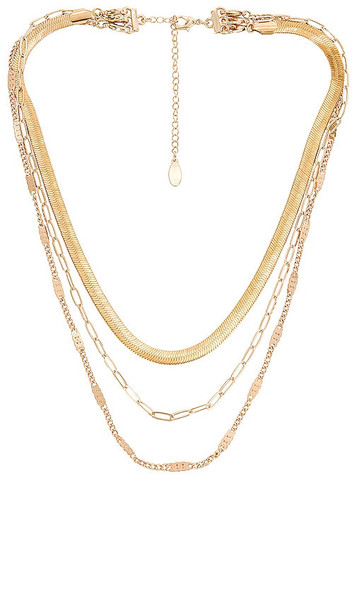 8 Other Reasons X Sofia Richie Paperclip Layered Necklace in Metallic Gold