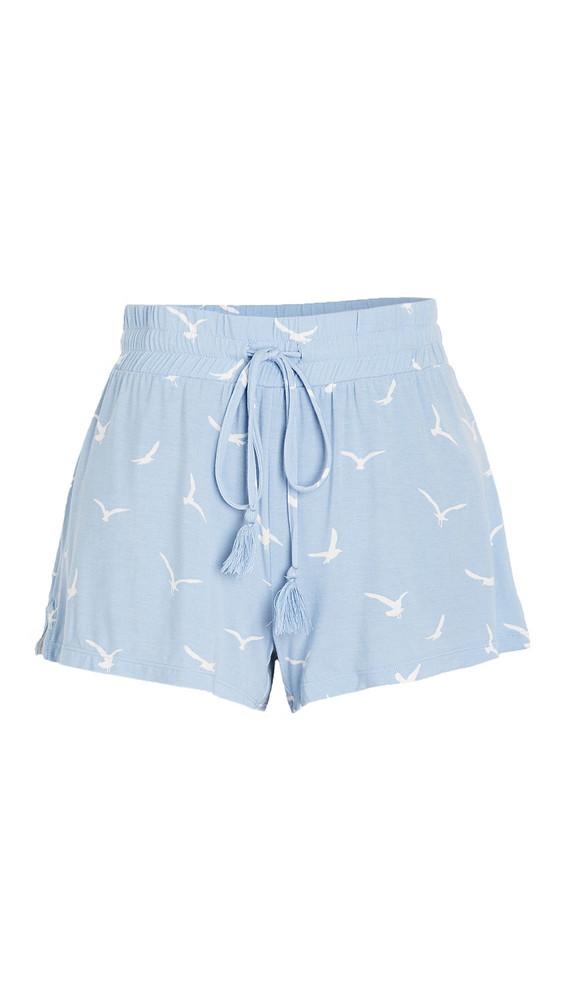 PJ Salvage In Flight Sleep Shorts in blue