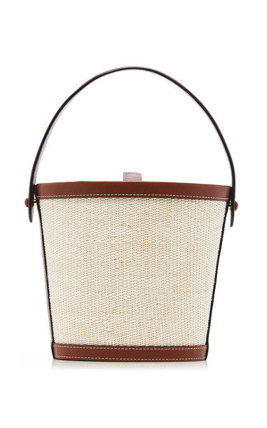 Hunting Season Two-Tone Nappa Leather Bucket Bag in neutral