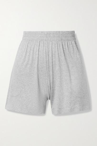 NORMA KAMALI - Stretch-modal Jersey Shorts - Gray