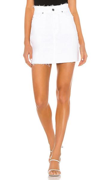 AG Adriano Goldschmied Vera Mini Skirt in white
