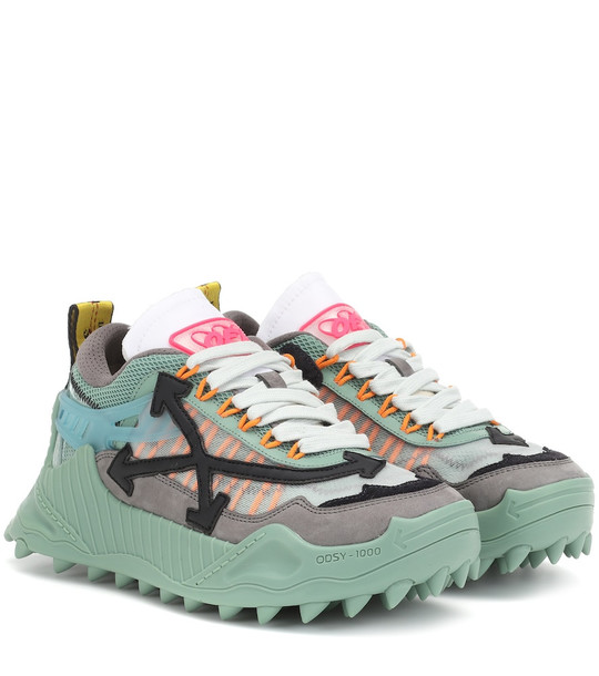 Off-White ODSY-1000 platform sneakers in green