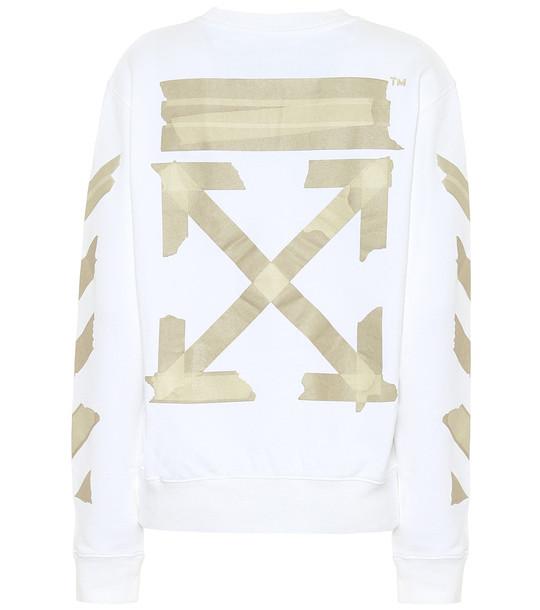 Off-White Printed cotton sweatshirt in white