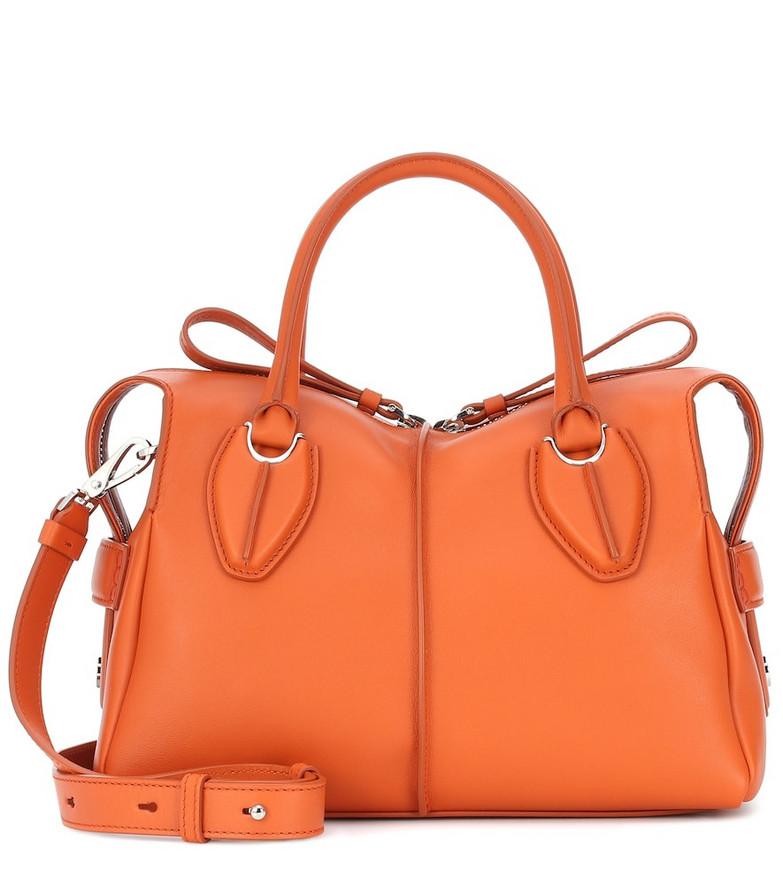 Tod's D-Styling leather shoulder bag in orange