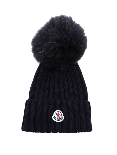 Moncler Hat Tricot in navy