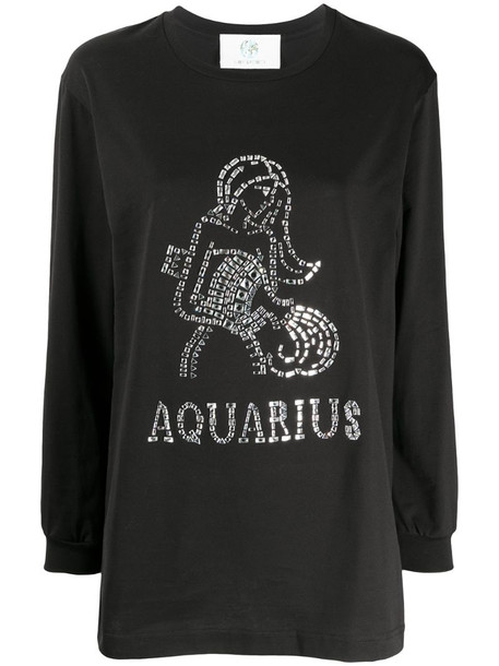 Alberta Ferretti Aquarius crystal-embellished sweatshirt in black