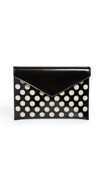 Rebecca Minkoff Perf Leo Clutch in black