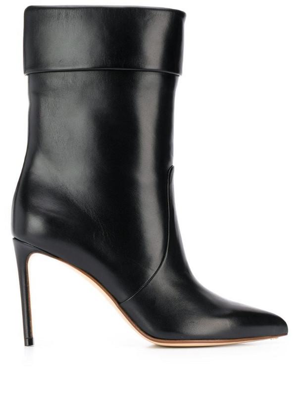 Francesco Russo stiletto ankle boots in black