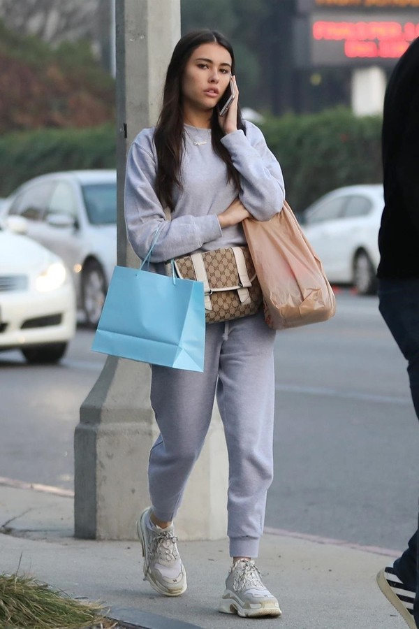 sweater sweatshirt celebrity sweatpants madison beer casual