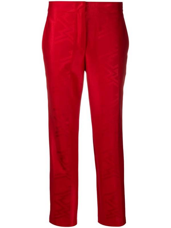 Koché jacquard pattern straight-leg trousers in red