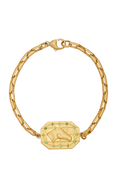 Tenet Jewelry Horse Grid II Gold Bracelet