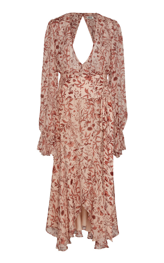 AMUR Felicity Floral-Patterned Midi Dress in print