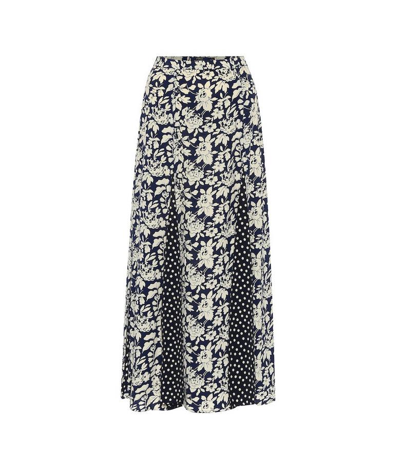 Polo Ralph Lauren Printed high-rise midi skirt