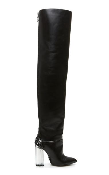 Balmain Iman Over the Knee Boot in black