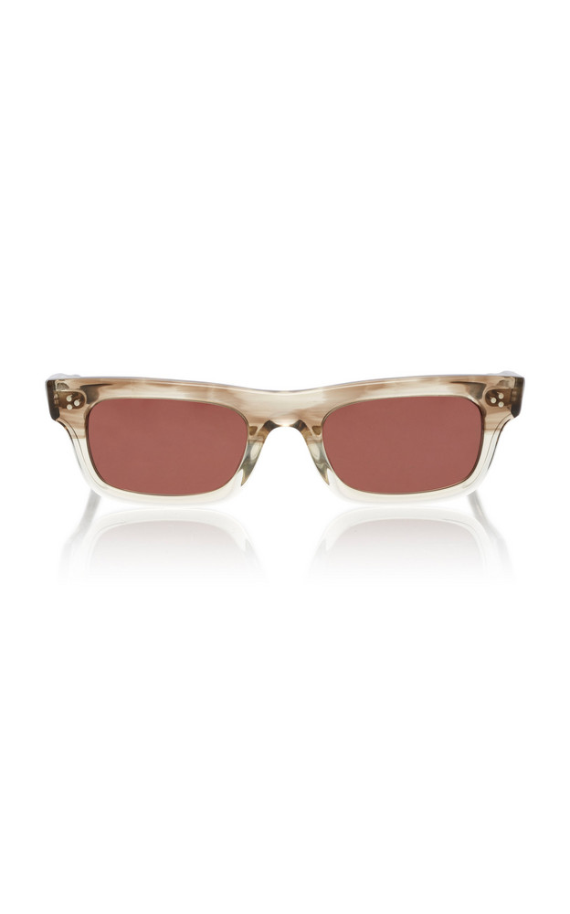 Oliver Peoples Jaye Rectangular-Frame Acetate Sunglasses in neutral