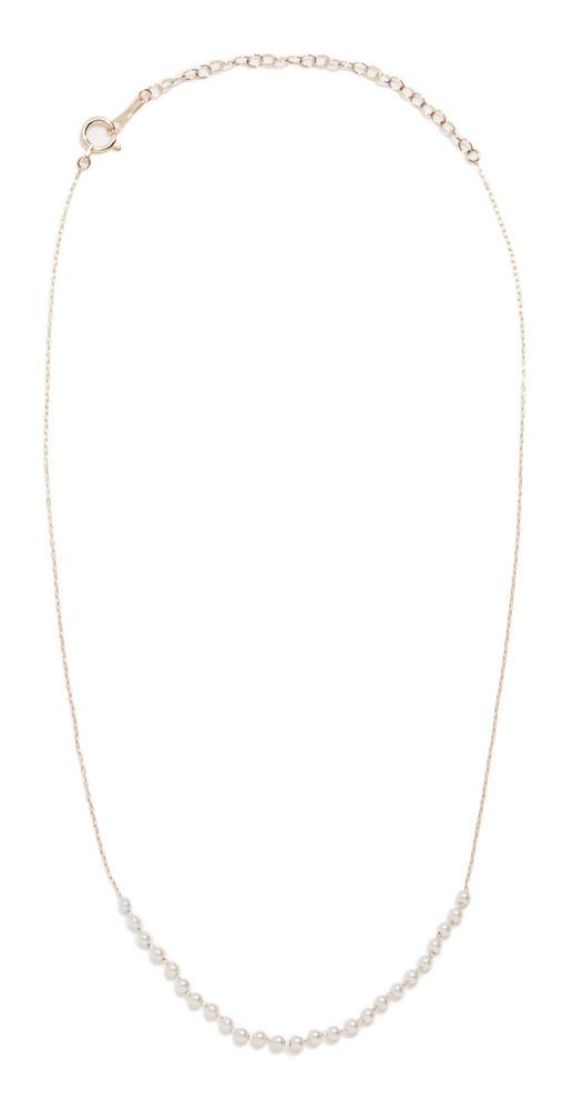 Mizuki Baby Akoya Pearls Necklace in gold