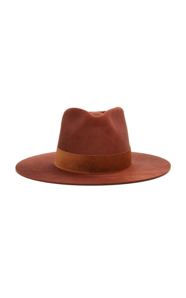 Janessa Leone Cotta Wool Fedora in brown
