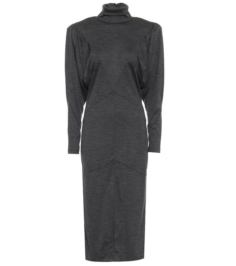 Isabel Marant Genia wool jersey midi dress in grey