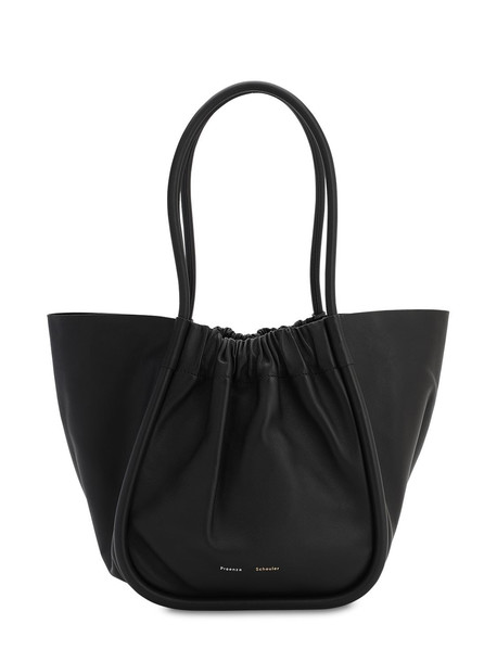 PROENZA SCHOULER Large Smooth Leather Tote Bag in black
