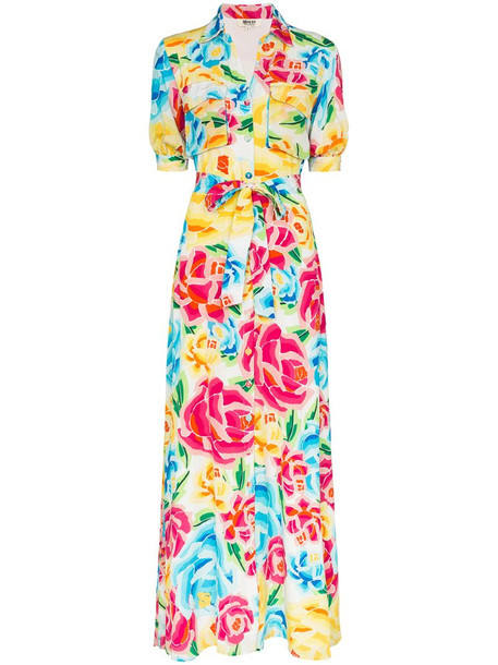 All Things Mochi floral print shirt dress in yellow