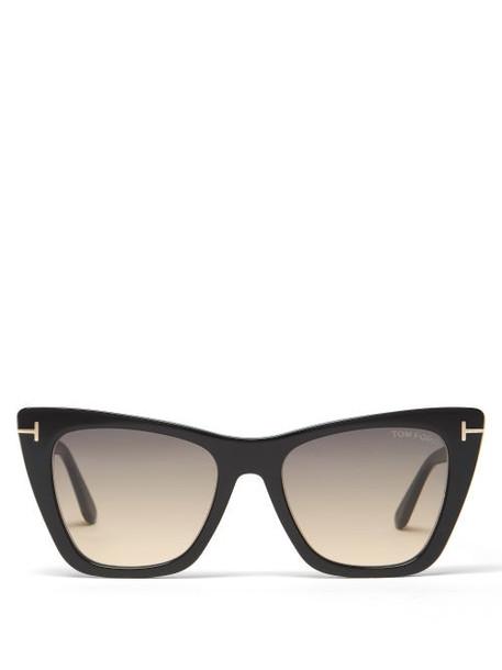 Tom Ford Eyewear - Poppy Cat-eye Acetate Sunglasses - Womens - Black