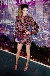 dress,jessica szohr,mini dress,velvet,velvet dress,bodycon dress,fall dress,celebrity