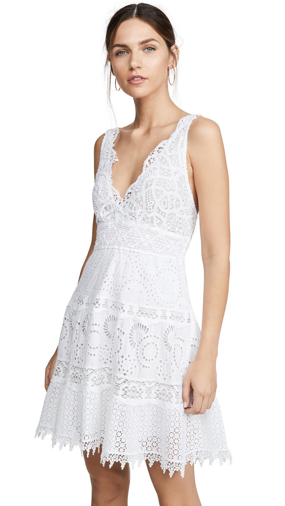 Temptation Positano Viareggio Mini Dress in white