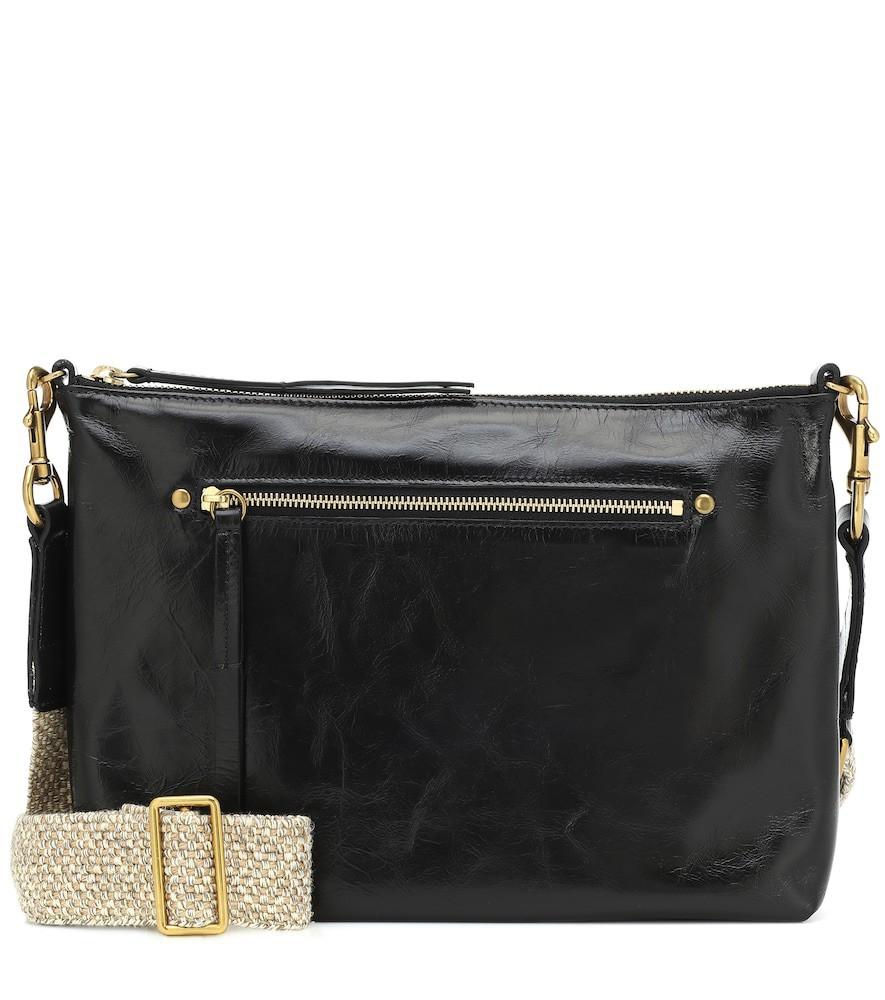 Isabel Marant Nessah leather crossbody bag in black