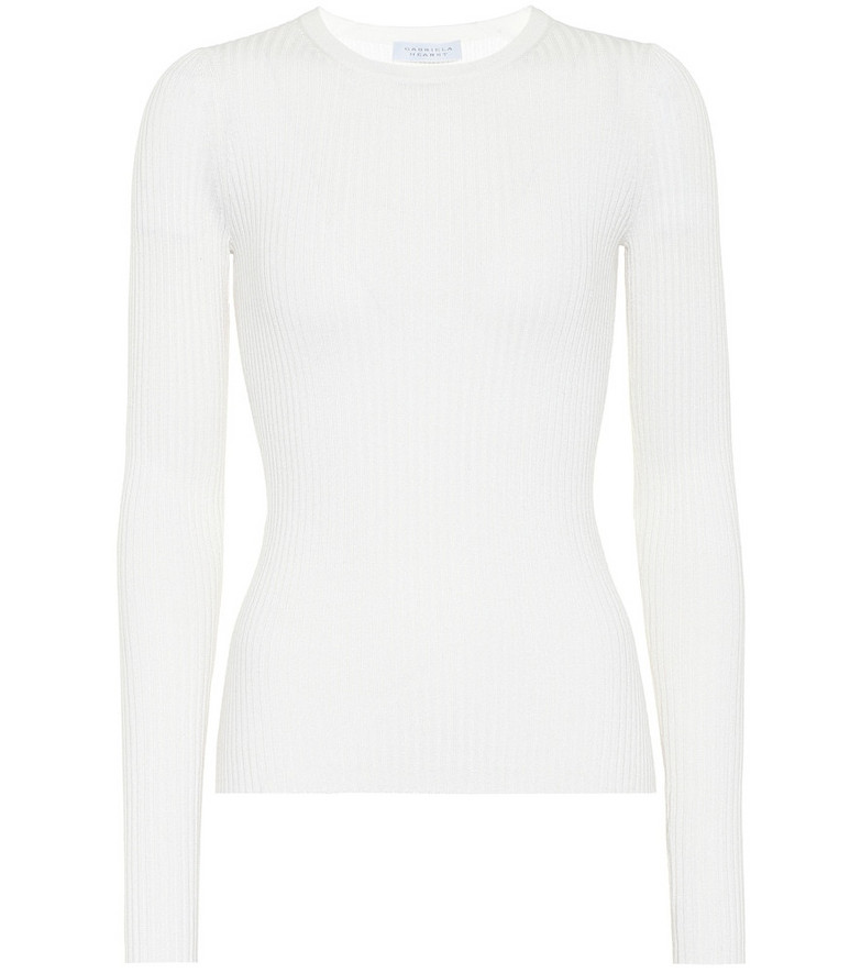 Gabriela Hearst Margret cashmere and silk top in white