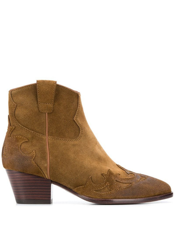 Ash Harlow ankle boots in brown