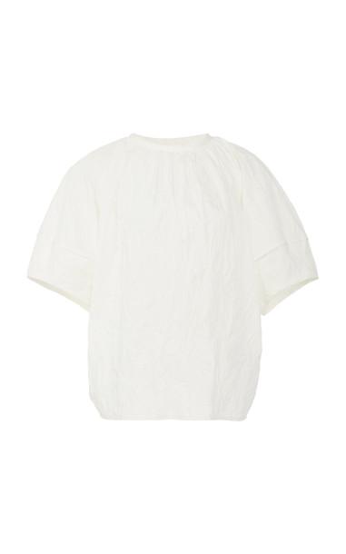 Deveaux Margot Poplin Top Size: 0 in white
