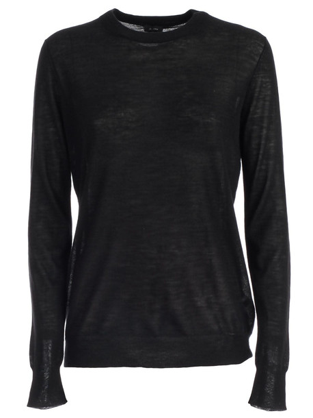 Joseph Sweater Round Neck Cashair in black
