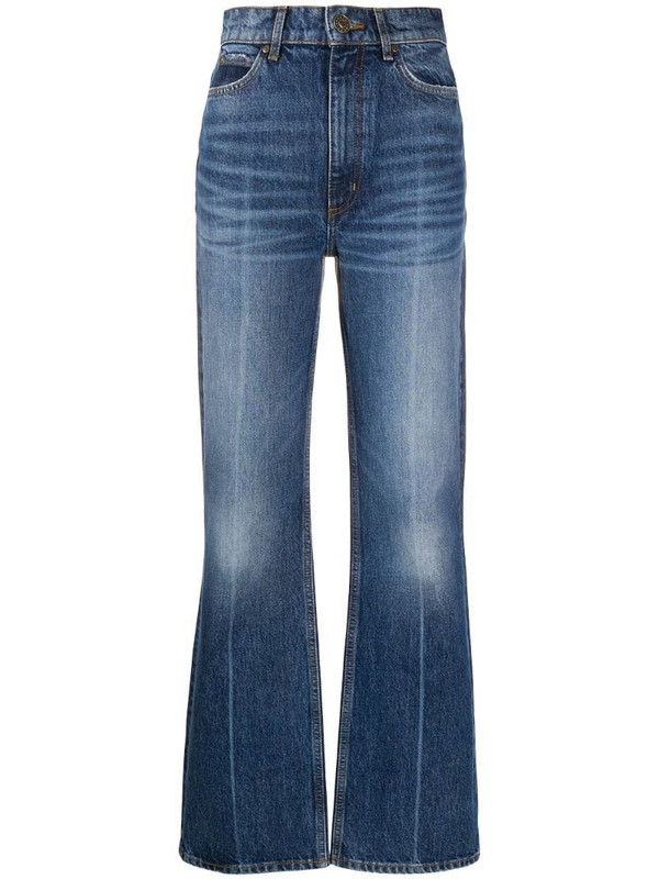 Sandro Paris high-rise bootcut jeans in blue