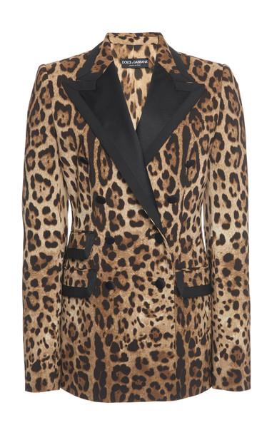 Dolce & Gabbana Printed Wool-Blend Blazer