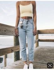 jeans,light wash straight cut