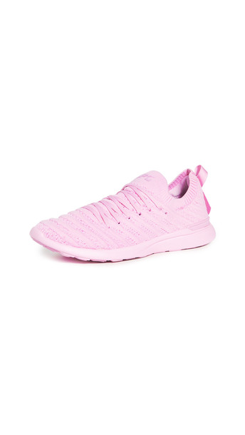 APL: Athletic Propulsion Labs Limited Edition Breast Cancer Awareness Month TechLoom Wave Sneakers in pink