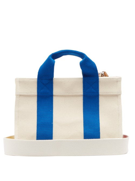 Rue De Verneuil - Lego Small Canvas Tote Bag - Womens - Blue Multi