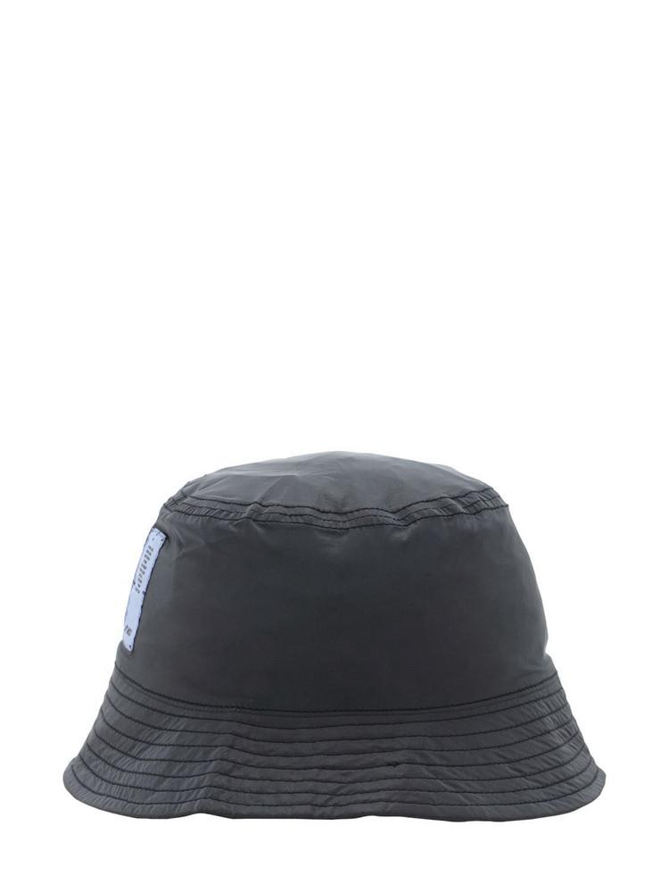 MCQ Reflective Nylon Bucket Hat in black
