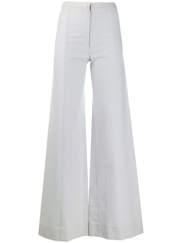 Emanuel Ungaro Pre-Owned 1970's flared trousers in blue