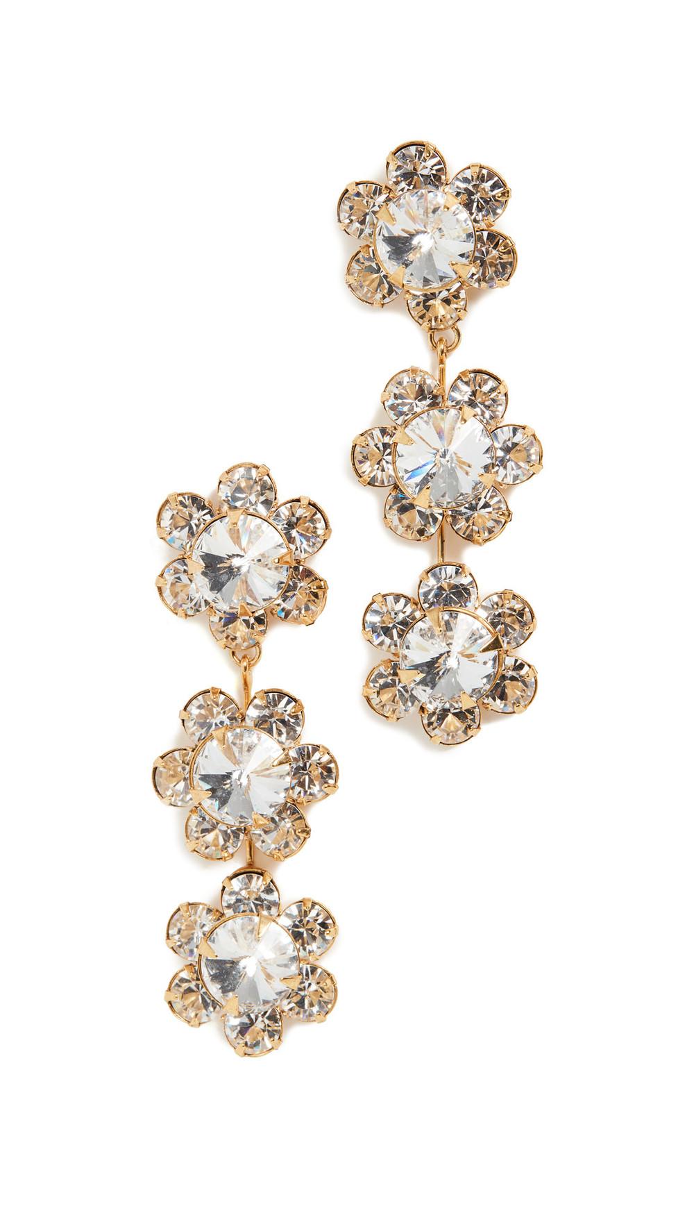 Jennifer Behr Gwenda Dangle Earrings in gold