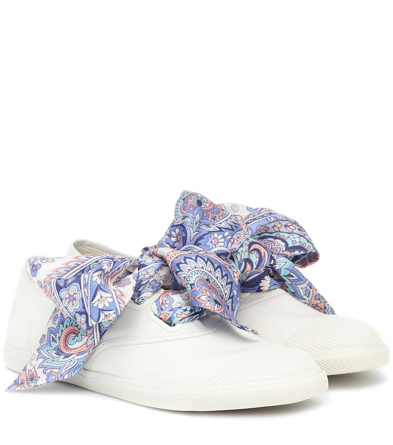 Zimmermann Exclusive to Mytheresa – Scarf-tie canvas sneakers in white
