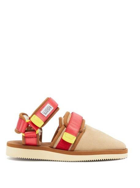 Suicoke - Nots Mab Suede Closed Toe Sandals - Womens - Tan Multi